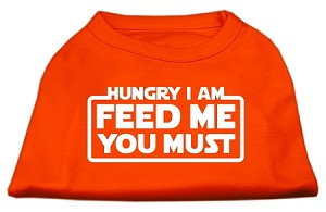 Hungry I Am Screen Print Shirt Orange Lg (14)