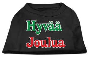Hyvaa Joulua Screen Print Shirt Black XXL