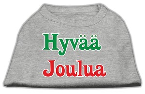 Hyvaa Joulua Screen Print Shirt Grey L (14)