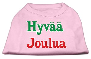 Hyvaa Joulua Screen Print Shirt Light Pink XXL (18)