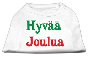 Hyvaa Joulua Screen Print Shirt White XL