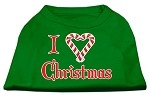 I Heart Christmas Screen Print Shirt Emerald Green XS (8)