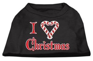 I Heart Christmas Screen Print Shirt Black XXXL (20)