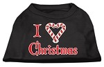 I Heart Christmas Screen Print Shirt Black XS (8)