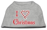 I Heart Christmas Screen Print Shirt Grey XS (8)