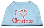 I Heart Christmas Screen Print Shirt Baby Blue XS (8)