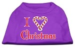 I Heart Christmas Screen Print Shirt Purple XS (8)