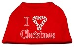 I Heart Christmas Screen Print Shirt Red XS (8)