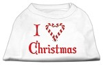 I Heart Christmas Screen Print Shirt White XS (8)