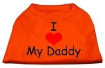 I Love My Daddy Screen Print Shirts Orange Med