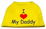 I Love My Daddy Screen Print Shirts Yellow XS