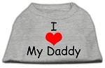 I Love My Daddy Screen Print Shirts Grey Med