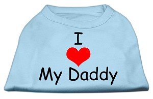 I Love My Daddy Screen Print Shirts Baby Blue Med (12)