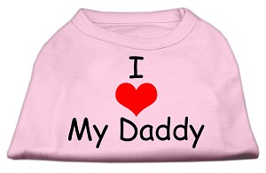 I Love My Daddy Screen Print Shirts Pink XXXL (20)