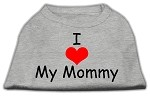 I Love My Mommy Screen Print Shirts Grey XS