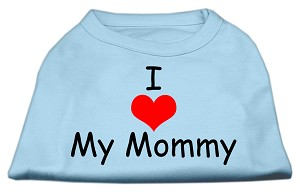 I Love My Mommy Screen Print Shirts Baby Blue Med (12)