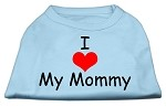 I Love My Mommy Screen Print Shirts Baby Blue XS
