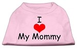 I Love My Mommy Screen Print Shirts Pink XS