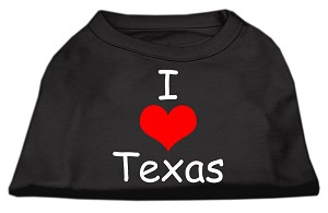 I Love Texas Screen Print Shirts Black XXL