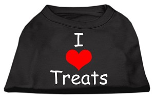 I Love Treats Screen Print Shirts Black XXL (18)