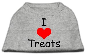 I Love Treats Screen Print Shirts Grey XL
