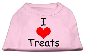 I Love Treats Screen Print Shirts Pink Sm (10)