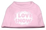 I Love Snow Screenprint Shirts Light Pink XS
