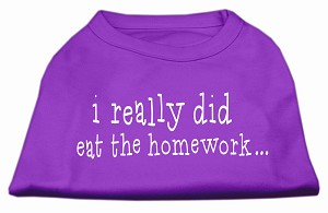 I really did eat the Homework Screen Print Shirt Purple XL (16)