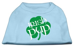 Irish Pup Screen Print Shirt Baby Blue Med (12)