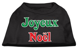 Joyeux Noel Screen Print Shirts Black S