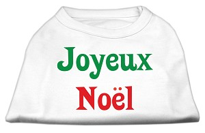 Joyeux Noel Screen Print Shirts White XXXL