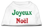Joyeux Noel Screen Print Shirts White XS (8)