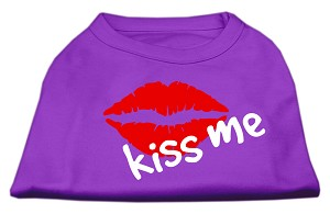 Kiss Me Screen Print Shirt Purple XL (16)