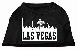 Las Vegas Skyline Screen Print Shirt Black Lg (14)
