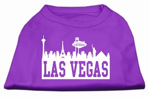 Las Vegas Skyline Screen Print Shirt Purple Sm (10)