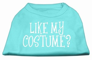 Like my costume? Screen Print Shirt Aqua S (10)