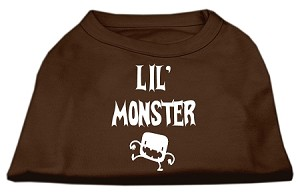 Lil Monster Screen Print Shirts Brown XXL (18)
