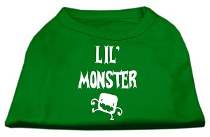 Lil Monster Screen Print Shirts Emerald Green Lg (14)