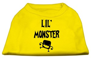 Lil Monster Screen Print Shirts Yellow Lg (14)