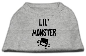Lil Monster Screen Print Shirts Grey XL (16)
