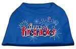 Little Firecracker Screen Print Shirts Blue XS