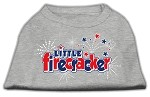 Little Firecracker Screen Print Shirts Grey XS