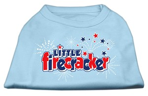 Little Firecracker Screen Print Shirts Baby Blue XXXL