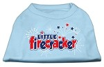 Little Firecracker Screen Print Shirts Baby Blue XS