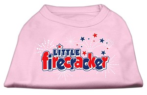 Little Firecracker Screen Print Shirts Light Pink L