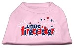 Little Firecracker Screen Print Shirts Light Pink XS