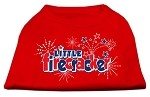 Little Firecracker Screen Print Shirts Red XS