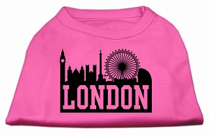London Skyline Screen Print Shirt Bright Pink XS (8)