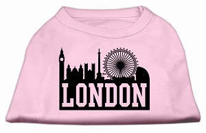 London Skyline Screen Print Shirt Light Pink XXL (18)