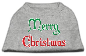 Merry Christmas Screen Print Shirt Grey XXXL (20)